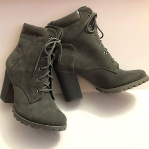 New With The Box Chunky Heel Combat Boots